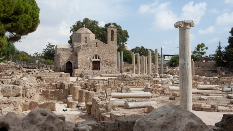 Archaeological site with chapel